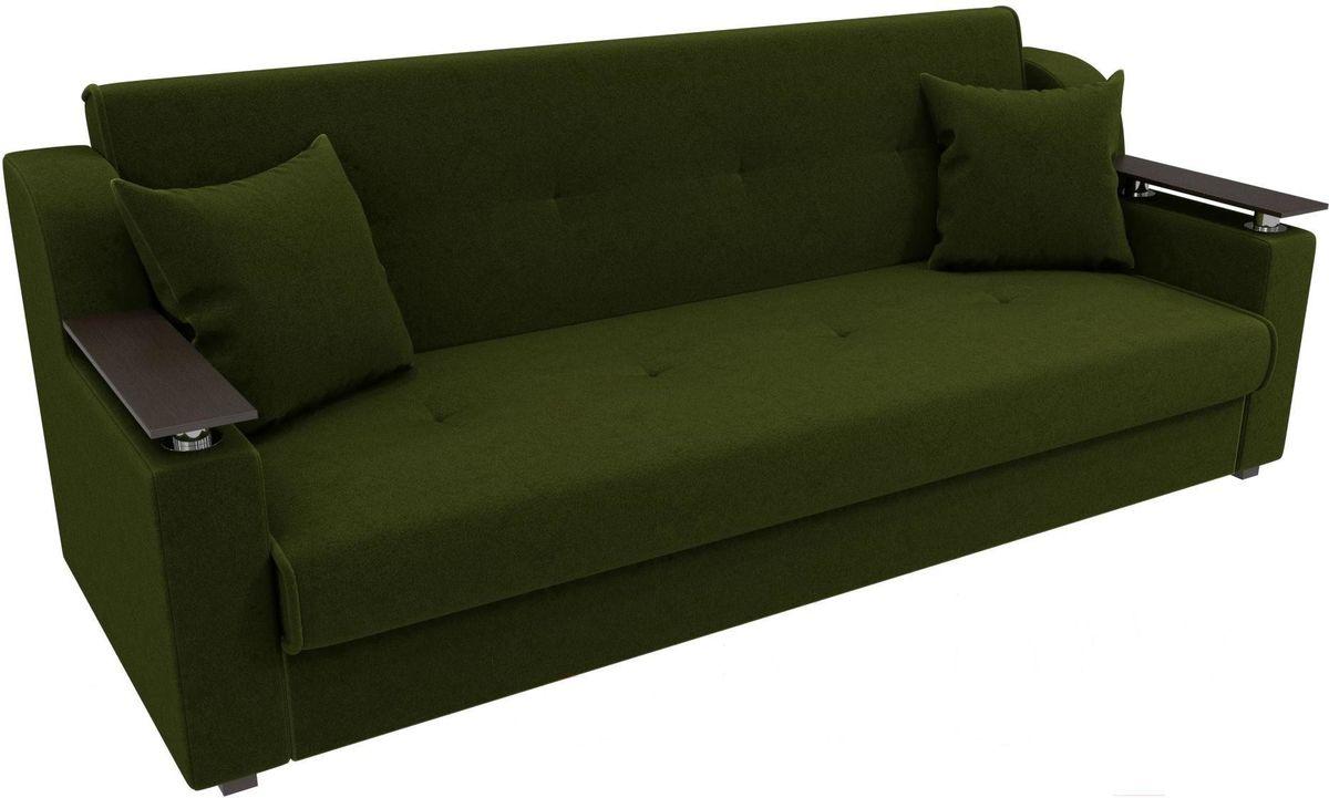 Диван Mebelico Сенатор 100615 микровельвет зеленый - фото 3