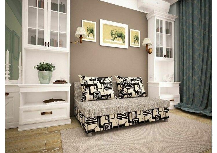 Диван Раевская мебельная фабрика Малыш Рогожка+квадраты 00563 - фото 1