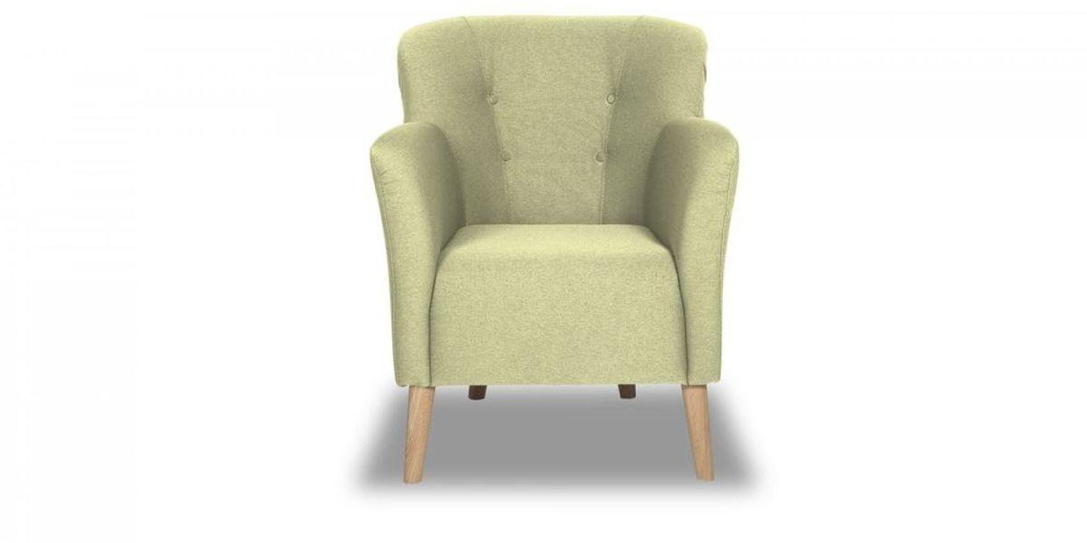 Кресло WOWIN Ингрид (Серо-бежевая микророгожка) - фото 2
