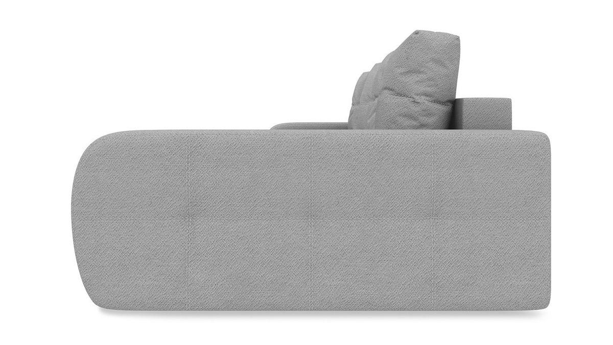 Диван ТриЯ правый «Томас Slim Т2» (Kolibri Silver (велюр) серый) - фото 3