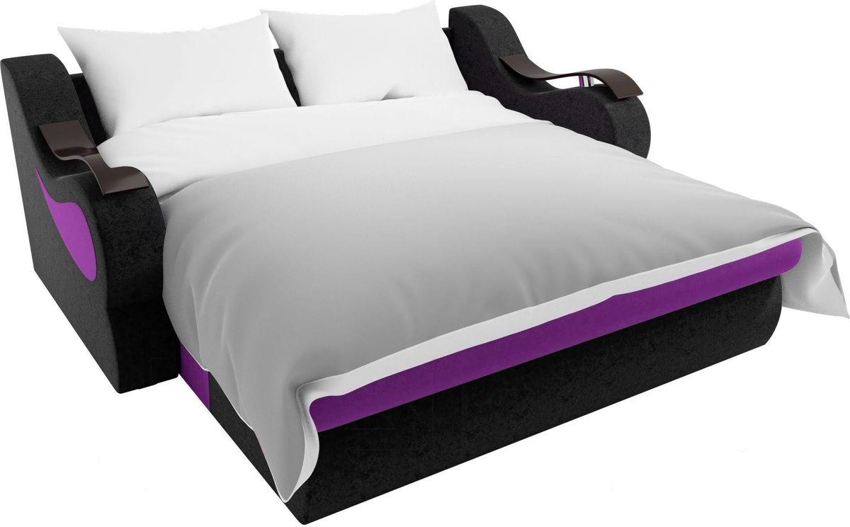 Диван Mebelico Меркурий 222 140,вельвет фиолетовый/черный - фото 7