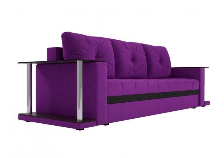 Диван Craftmebel прямой Атланта М фиолетовый вельвет - фото 3