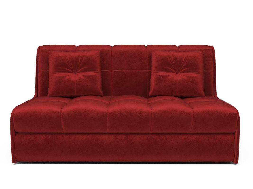 Диван Мебель-АРС Аккордеон Барон №2 (бархат красный  STAR VELVET 3 DARK RED) - фото 2