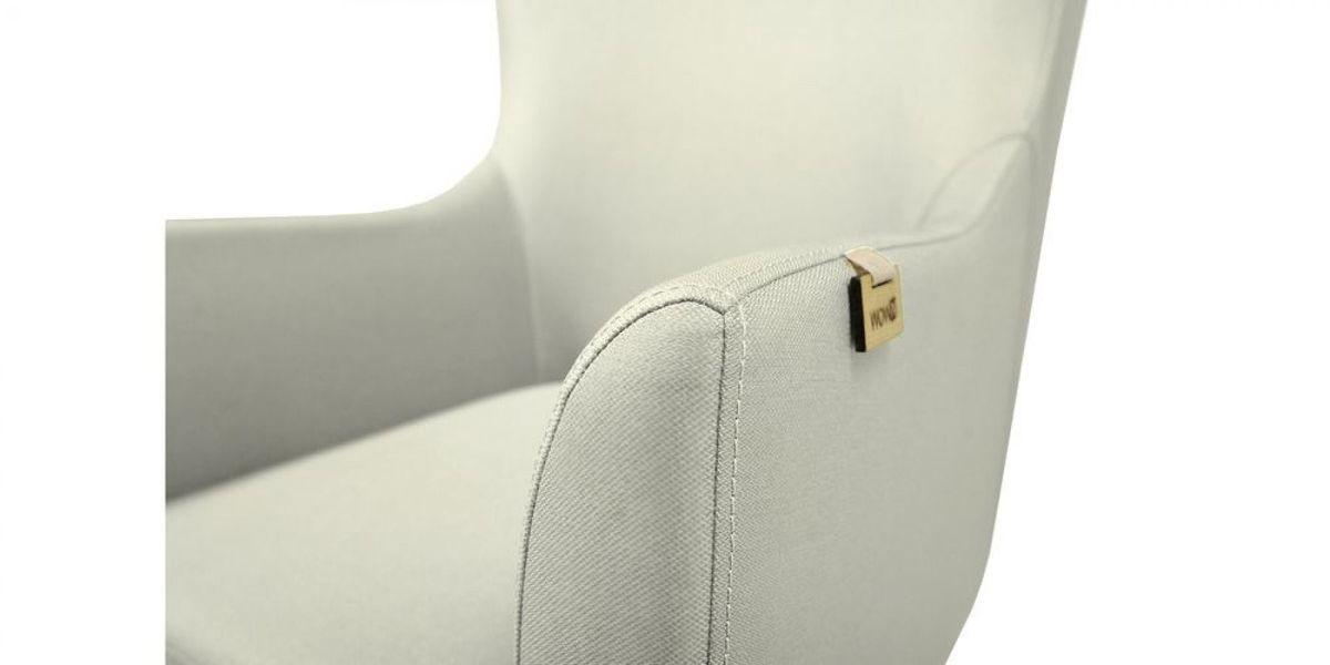 Кресло WOWIN Элеганза высокое (Кремовый велюр) - фото 4