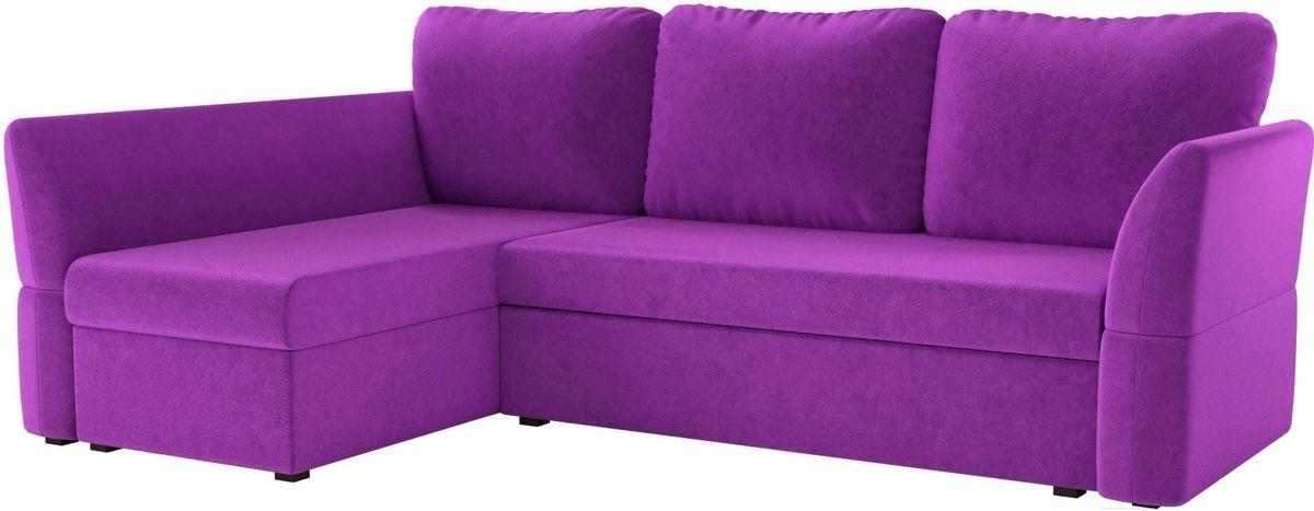 Диван Mebelico Гесен 100 левый 60062 микровельвет фиолетовый - фото 1