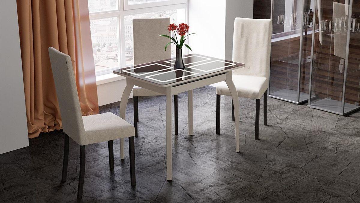 Обеденный стол ТриЯ Рим раздвижной на деревянных ножках - фото 3