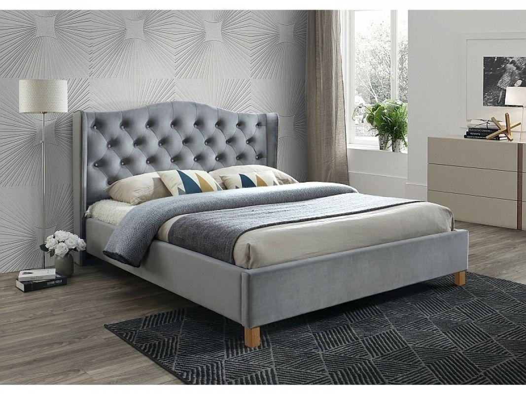 Кровать Signal Aspen Velvet 180 (серый) - фото 1