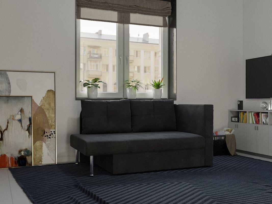 Диван Мебель-АРС Алиса (велюр черный / НВ-178/17) - фото 8