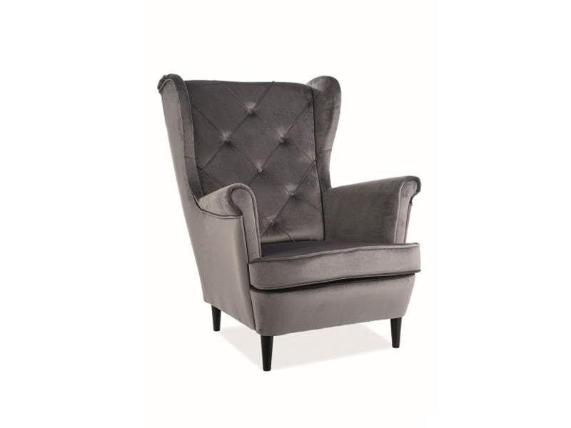 Кресло Signal LADY Velvet Bluvel 14 (серый) LADYV14 - фото 1