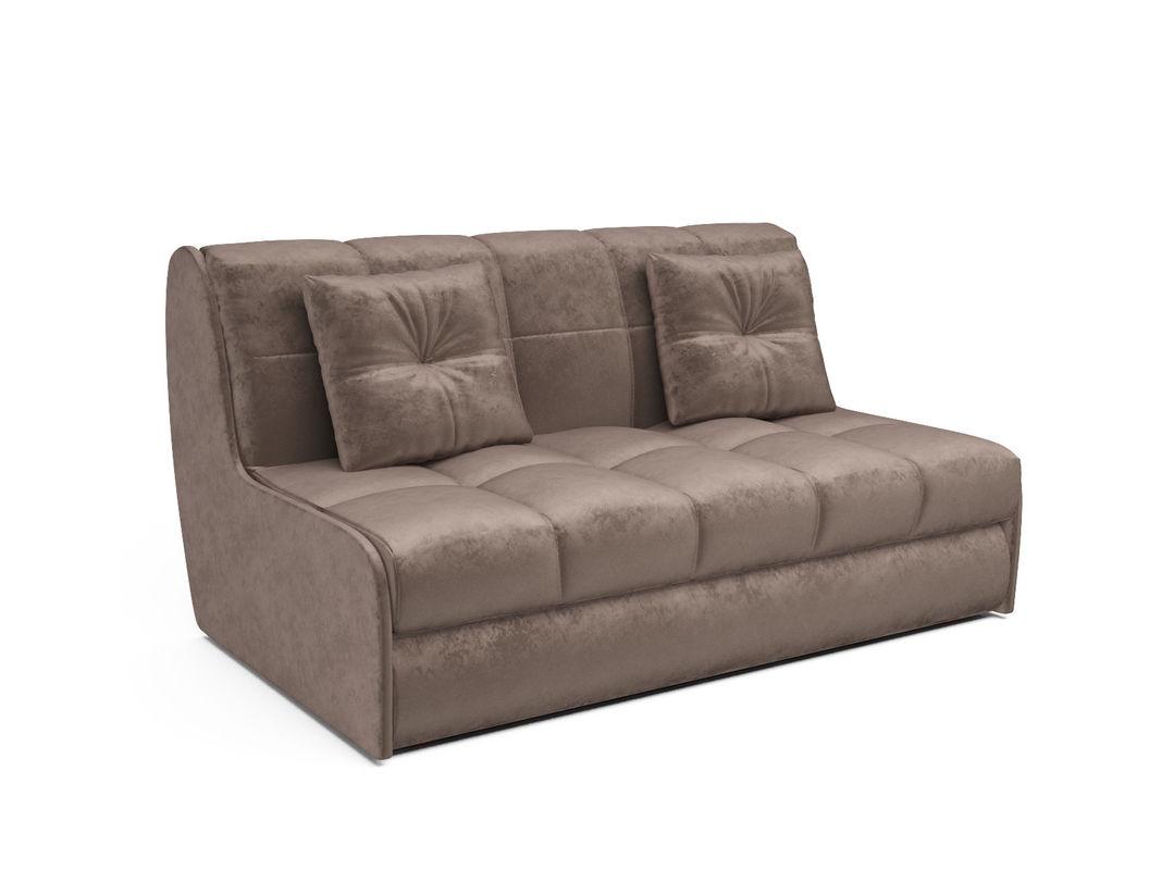 Диван Мебель-АРС Аккордеон Барон №2 (бархат серо-шоколадный  STAR VELVET 60 COFEE) - фото 1