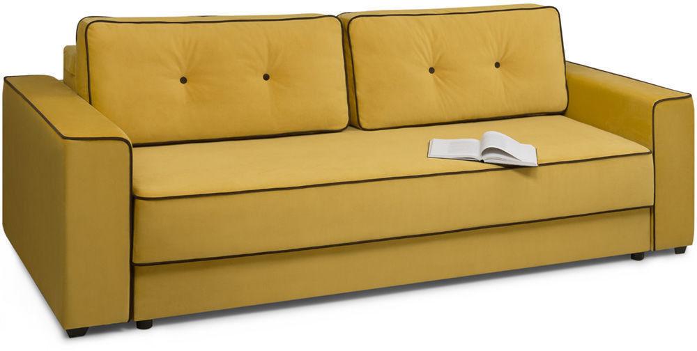 Диван Woodcraft Менли НПБ Velvet Yellow - фото 2