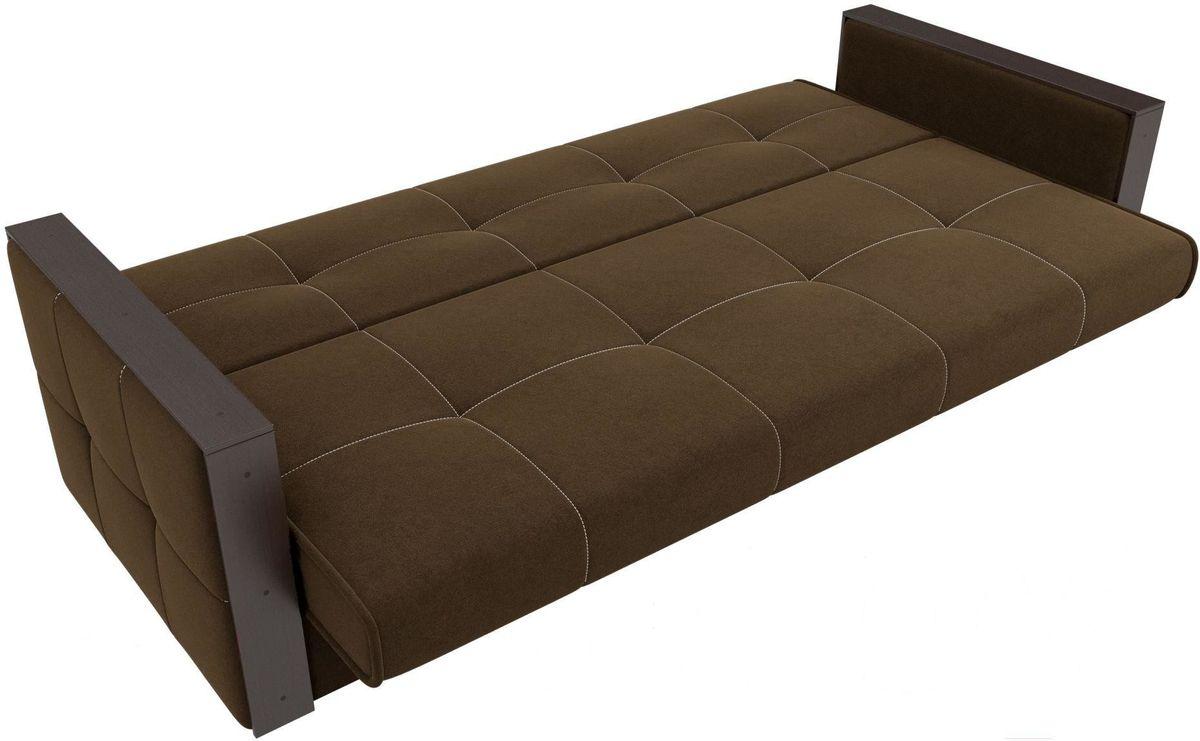 Диван Mebelico Валенсия 100605 микровельвет коричневый - фото 6