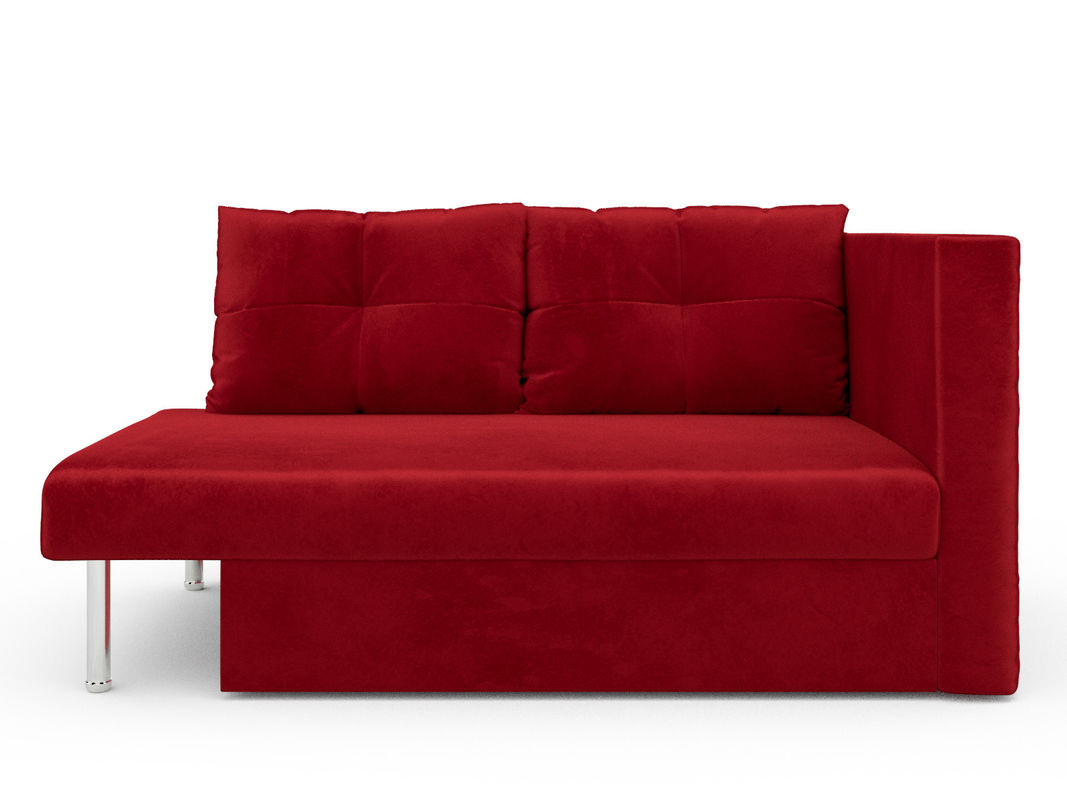 Диван Мебель-АРС Алиса (бархат красный / STAR VELVET 3 DARK RED) - фото 1