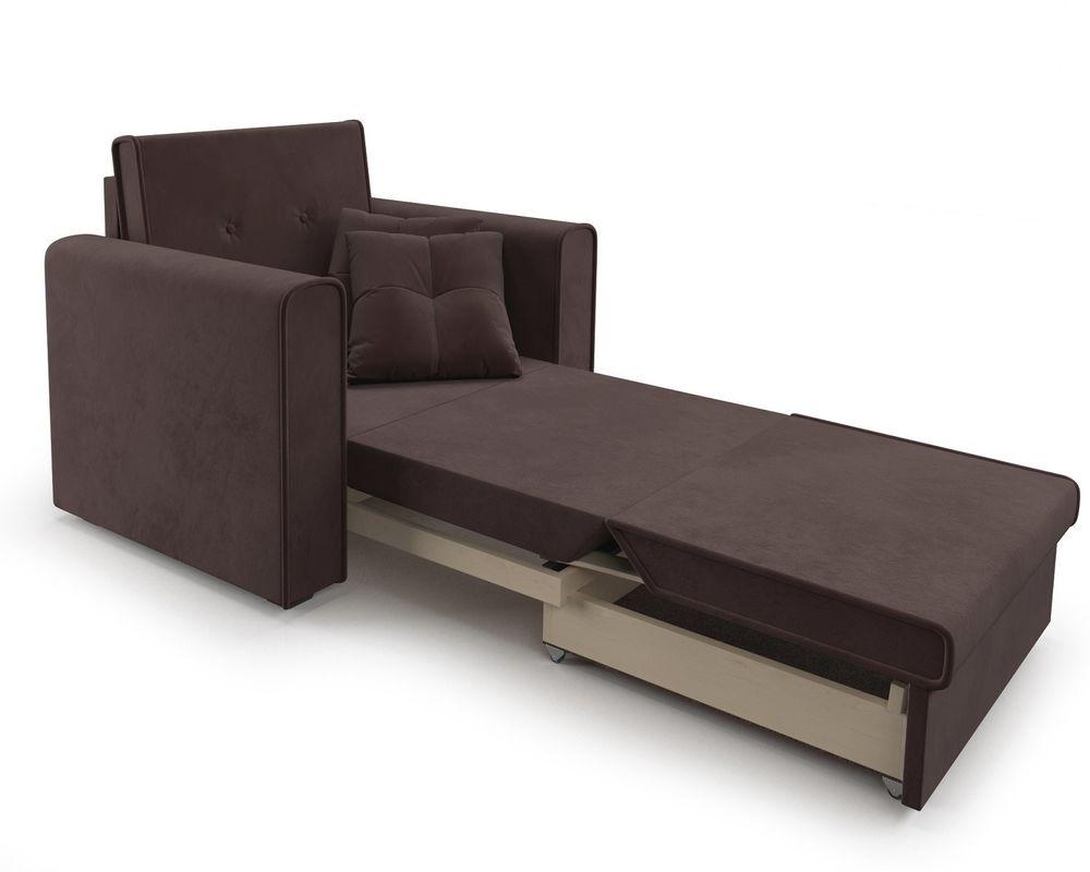 Кресло Мебель-АРС Санта (велюр молочный шоколад / НВ-178/13) - фото 8