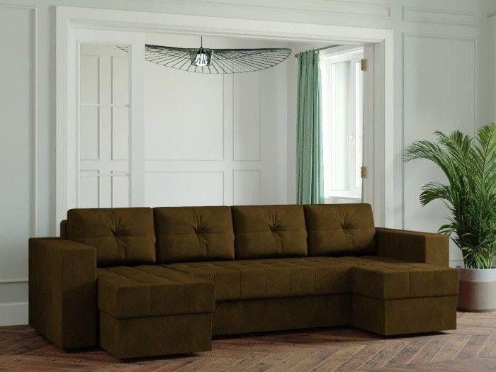 Диван Настоящая мебель Ванкувер Лайт (Модель: 44444) коричневый - фото 1
