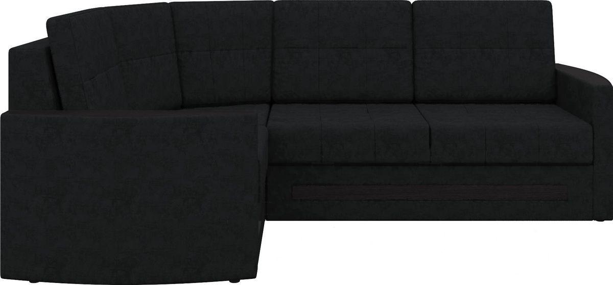 Диван Mebelico Белла У 476 левый вельвет черный - фото 3