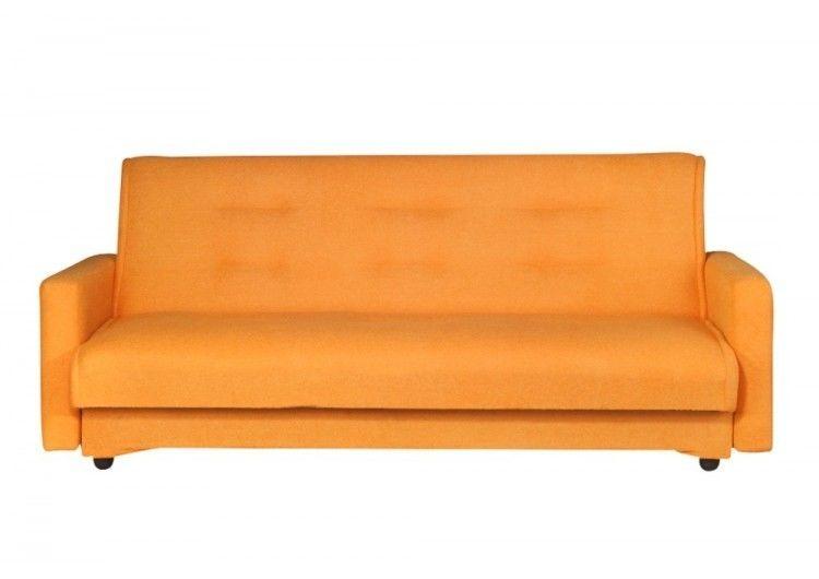 Диван Луховицкая мебельная фабрика Милан (Астра светло-персиковый) пружинный 120x190 - фото 2