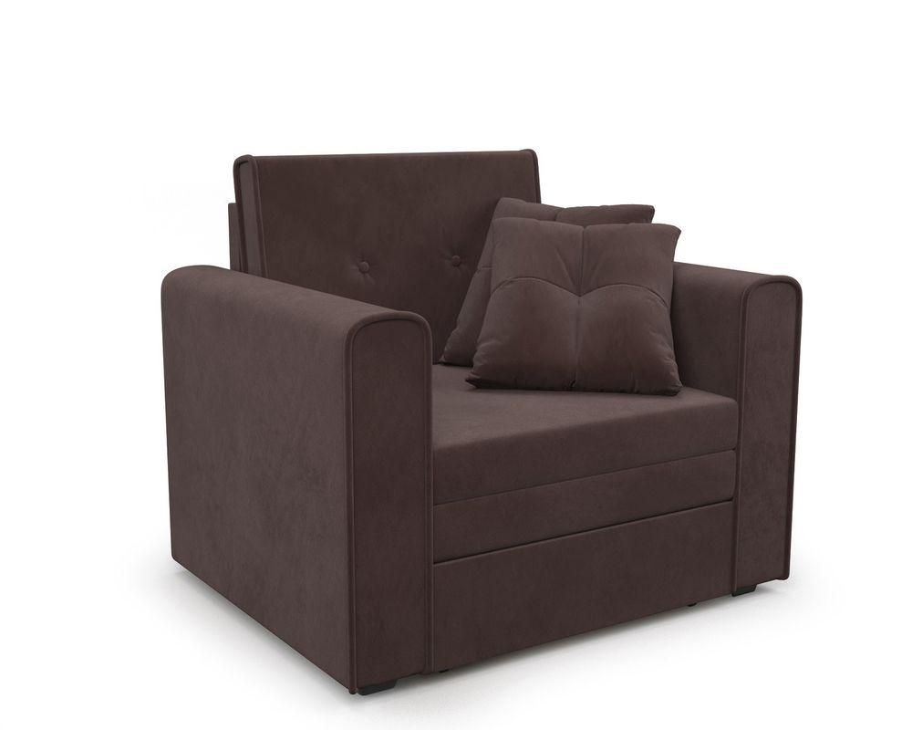 Кресло Мебель-АРС Санта (велюр молочный шоколад / НВ-178/13) - фото 1