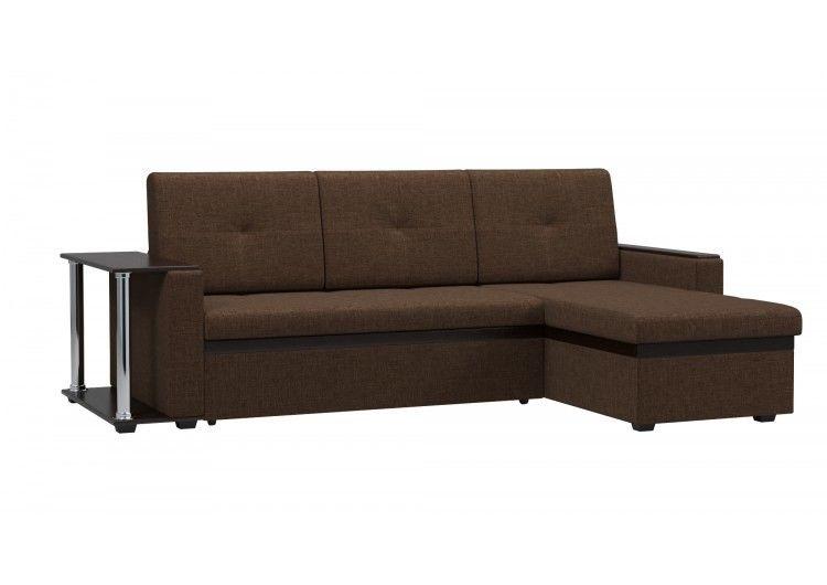 Диван Woodcraft Атланта-М со столиком (коричневый) - фото 1