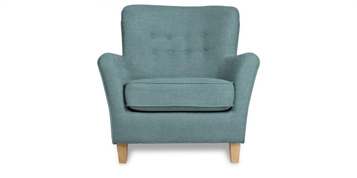 Кресло WOWIN Нуар (Бледно-васильковая рогожка) - фото 2