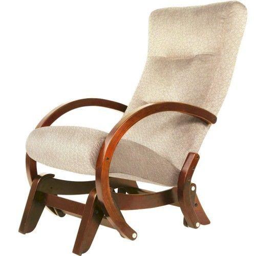 Кресло Greentree Мэтисон вишня/экокожа бежевый - фото 1