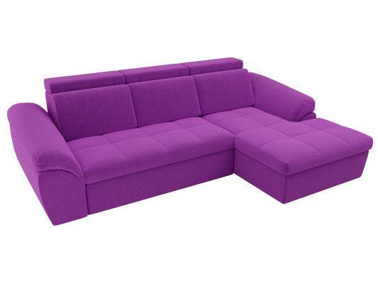 Диван ЛигаДиванов Мисандра угол правый микровельвет фиолетовый - фото 2