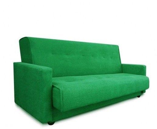 Диван Луховицкая мебельная фабрика Милан (Астра зеленый) пружинный 140x190 - фото 2