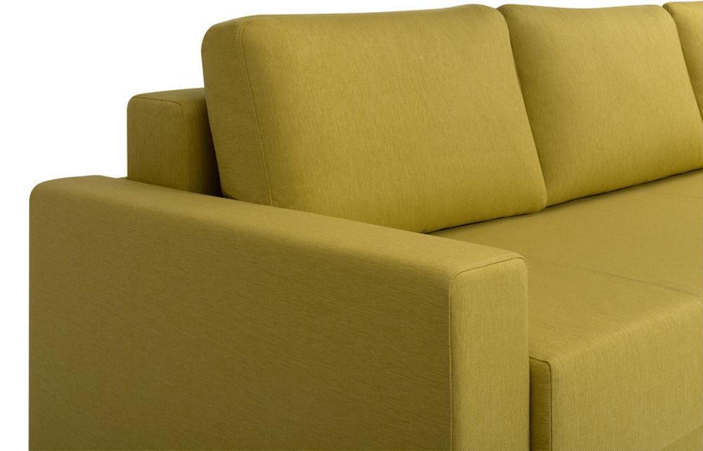Диван Woodcraft Порту Textile Yellow - фото 6