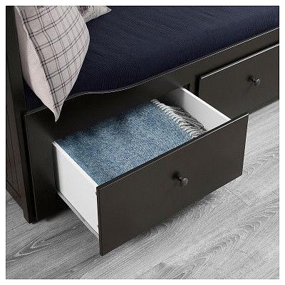 Диван IKEA Хемнэс с 2 матрасами/3-мя ящиками черно-коричневый [192.989.77] - фото 4