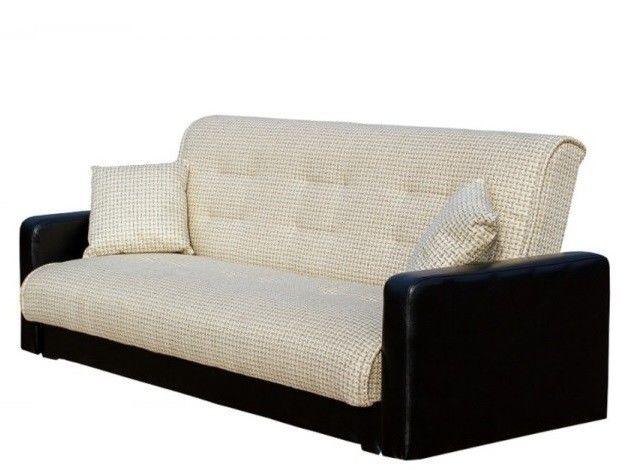 Диван Луховицкая мебельная фабрика Лондон (корфу микс бежевый) пружинный 120x190 - фото 2