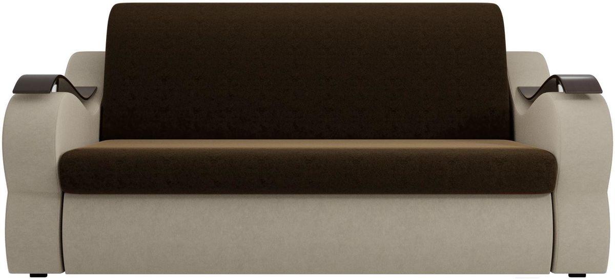Диван Mebelico Меркурий 222 140, вельвет коричневый/бежевый - фото 3