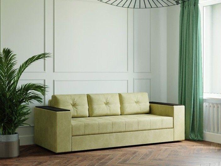 Диван Настоящая мебель Ванкувер Лайт с декором (модель: 00-000034503) оливковый - фото 1