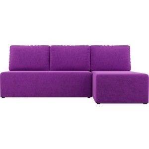 Диван АртМебель Поло угол правый микровельвет фиолетовый - фото 4