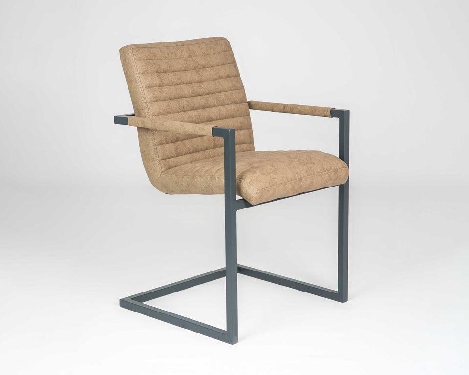 Кресло LORI Бергамо (кожзам/ткань) с подлокотниками - фото 5