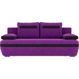 Диван ЛигаДиванов Каир вельвет фиолетовый вставка черная - фото 3