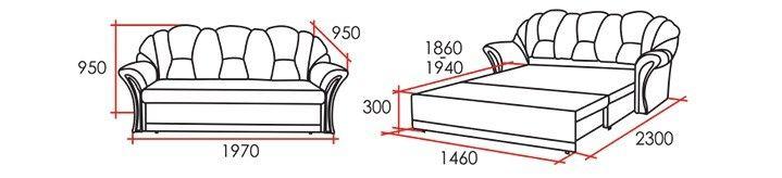 Диван Виктория Мебель Венера 3 З 194 - фото 2