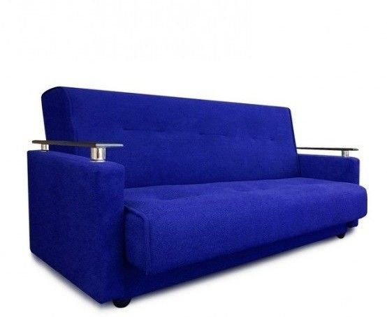 Диван Луховицкая мебельная фабрика Милан Люкс (Астра синий) 120x190 - фото 1