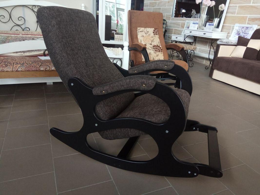Кресло Бастион 4-2 с подножкой рогожка темная - фото 1