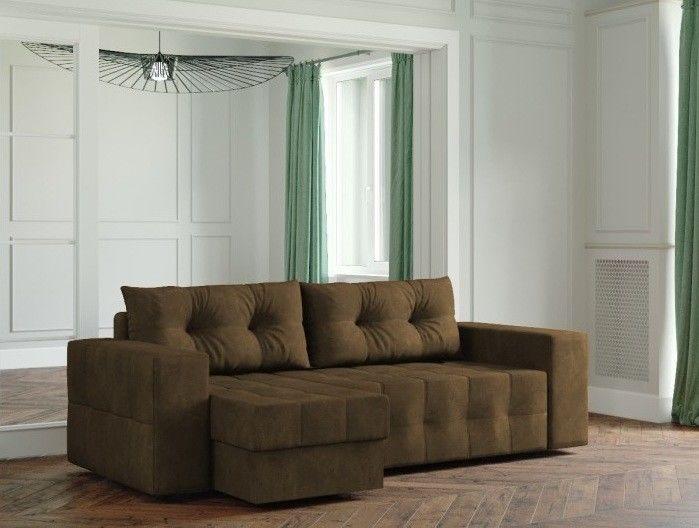 Диван Настоящая мебель Ванкувер Мейсон (модель: 00-00003438) коричневый - фото 1
