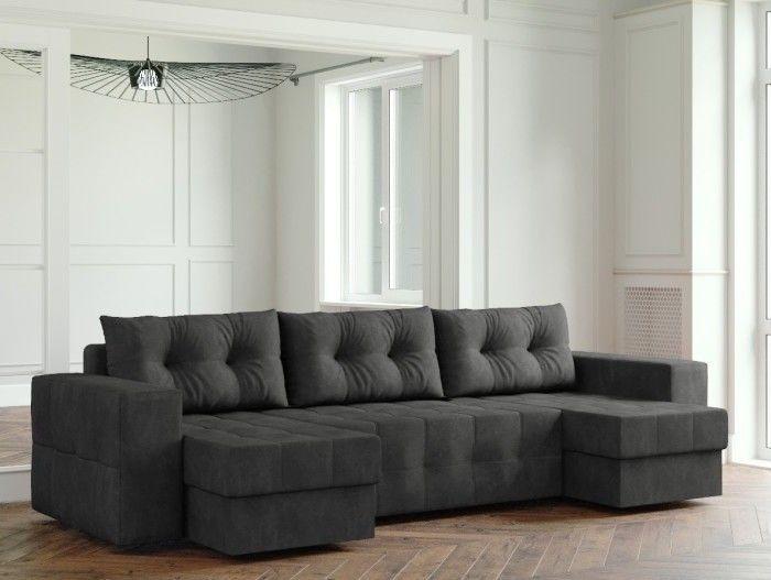 Диван Настоящая мебель Ванкувер Мейсон (модель: 00-00000068) черный - фото 1