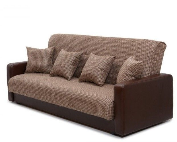 Диван Луховицкая мебельная фабрика Лондон (корфу микс коричневый) пружинный 140x190 - фото 2