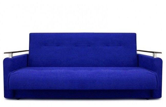 Диван Луховицкая мебельная фабрика Милан Люкс (Астра синий) пружинный 120x190 - фото 2