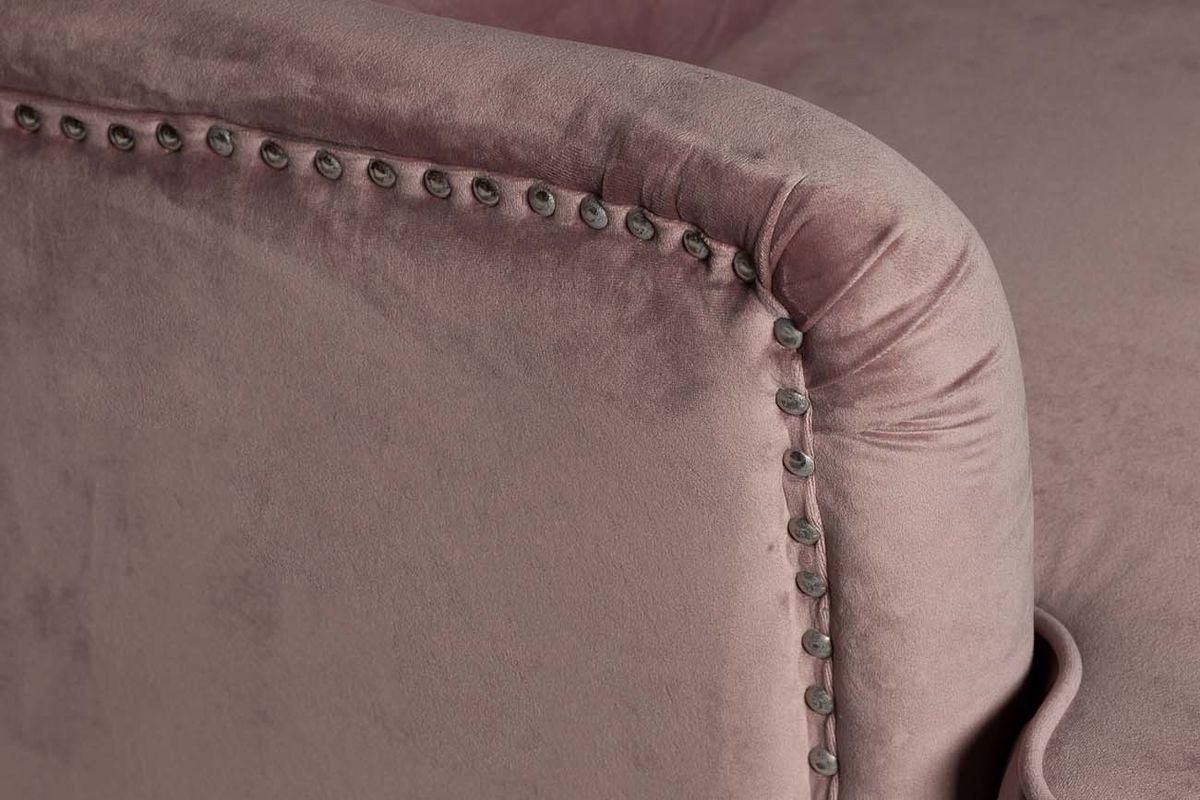 Кресло Garda Decor 24YJ-7004-06418/1 (велюровое дымчато-розовое с подушкой) - фото 3