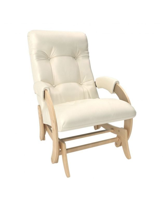 Кресло Impex Кресло-гляйдер Модель 68 экокожа натуральный (dundi 112) - фото 1