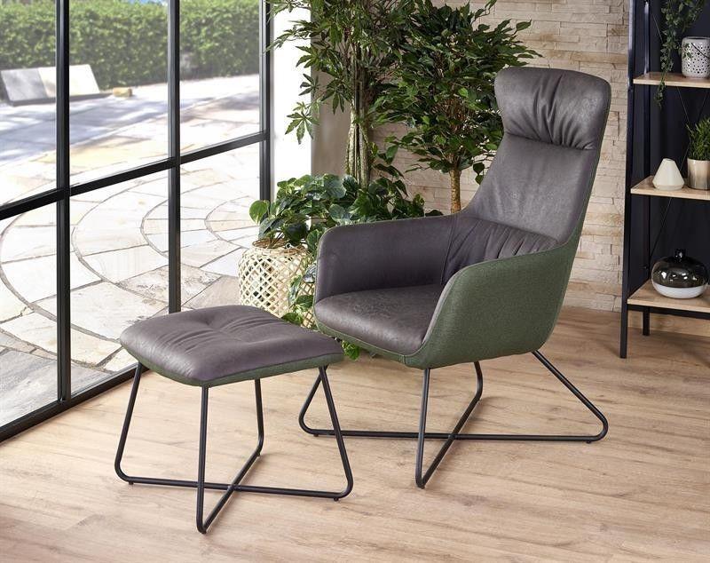 Кресло Halmar TINTO (темно-серый/темно-зеленый/черный) V-CH-TINTO-FOT - фото 2