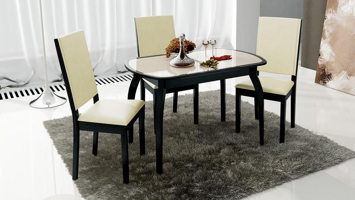 Обеденный стол ТриЯ Ницца 2 раздвижной на деревянных ножках - фото 6