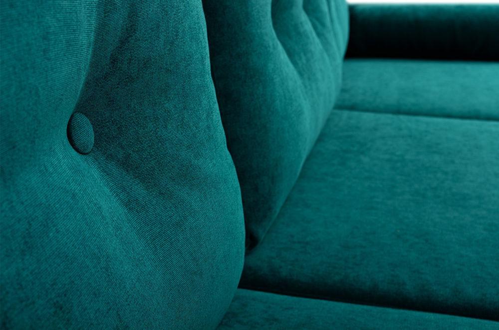 Диван Woodcraft Динс Velvet Угловой Emerald - фото 11