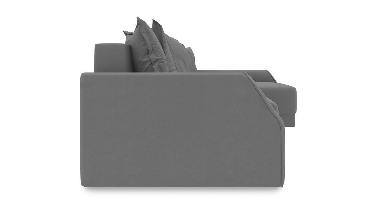 Диван ТриЯ правый «Люксор Slim Т2» (Neo 12 (рогожка) коричневый) - фото 5