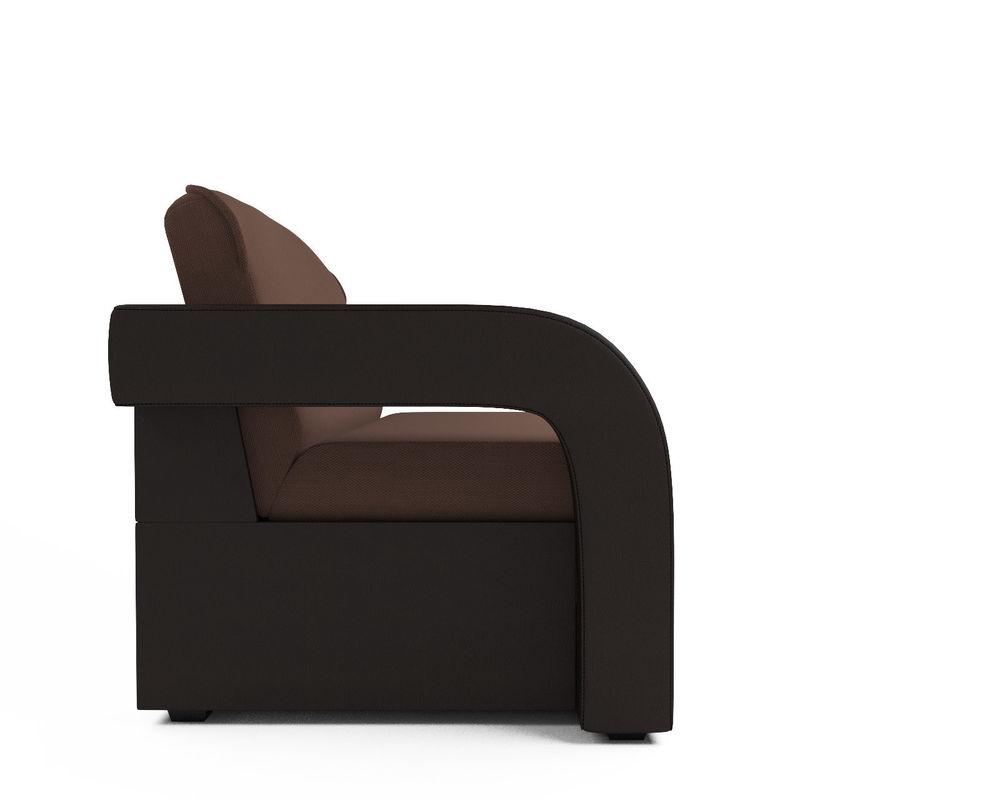 Диван Мебель-АРС Кармен-2 (рогожка шоколад + экокожа) - фото 2