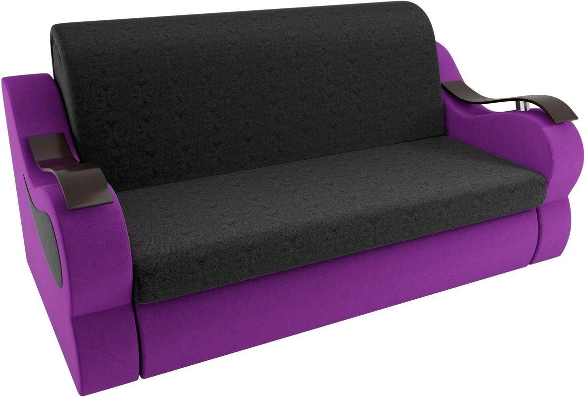 Диван Mebelico Меркурий 222 140, вельвет черный/фиолетовый - фото 2